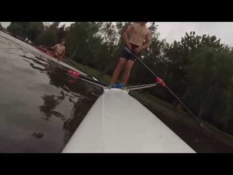 Rowing fail in stand on scull