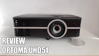 Review Optoma UHD51 Nuevo Proyector 4K UHD 3D HDR 2018