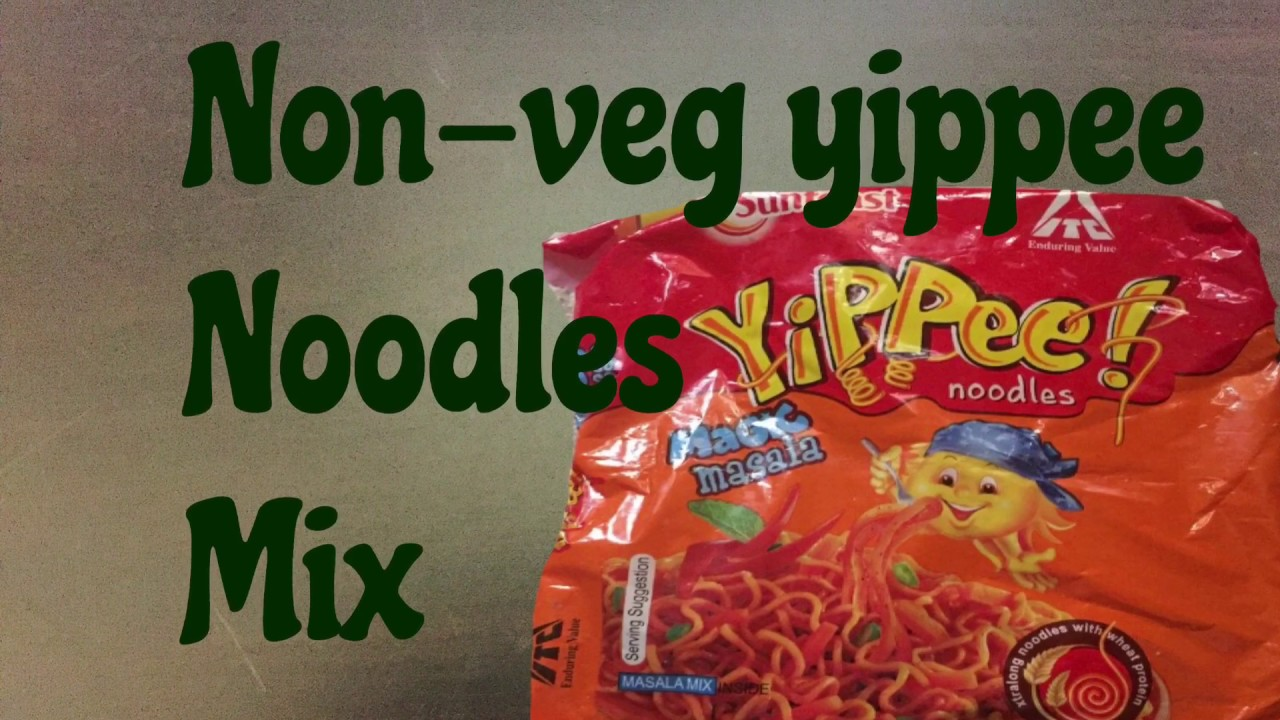 Non-veg yippee noodles mix!! - YouTube