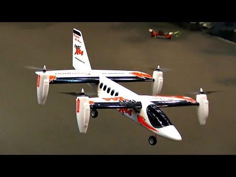 RC VTOL MODEL AIRCRAFT X44 VERTICAL TAKE-OFF AIRPLANE / Faszination Modellbau 2015