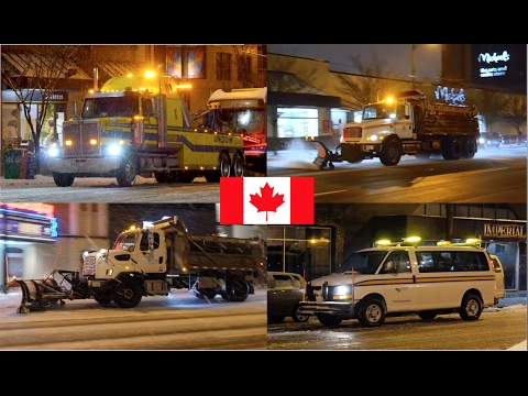 [SNOW SPECIAL] Vancouver City Services - Plows, TransLink, Tows, BC Hydro Vehicles In The Snow