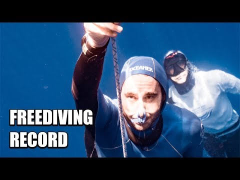 Adam Stern Freediving Record | Freediver Breaks Down his 92M National Record Dive