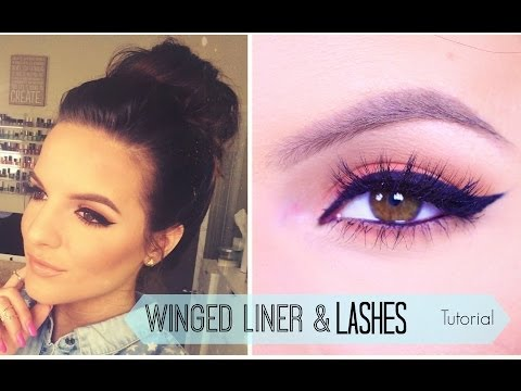How To: Winged Eyeliner & False Lashes