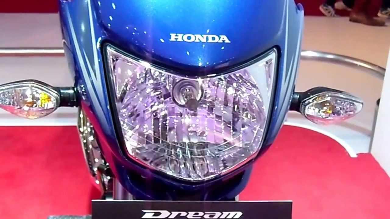 Honda Dream Yuga In Blue At 12th Auto Expo 2014 The Motor Show Greater Noida Youtube
