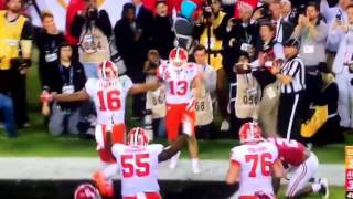 NCAA Championship game winning touchdown Clemson v Alabama 2017