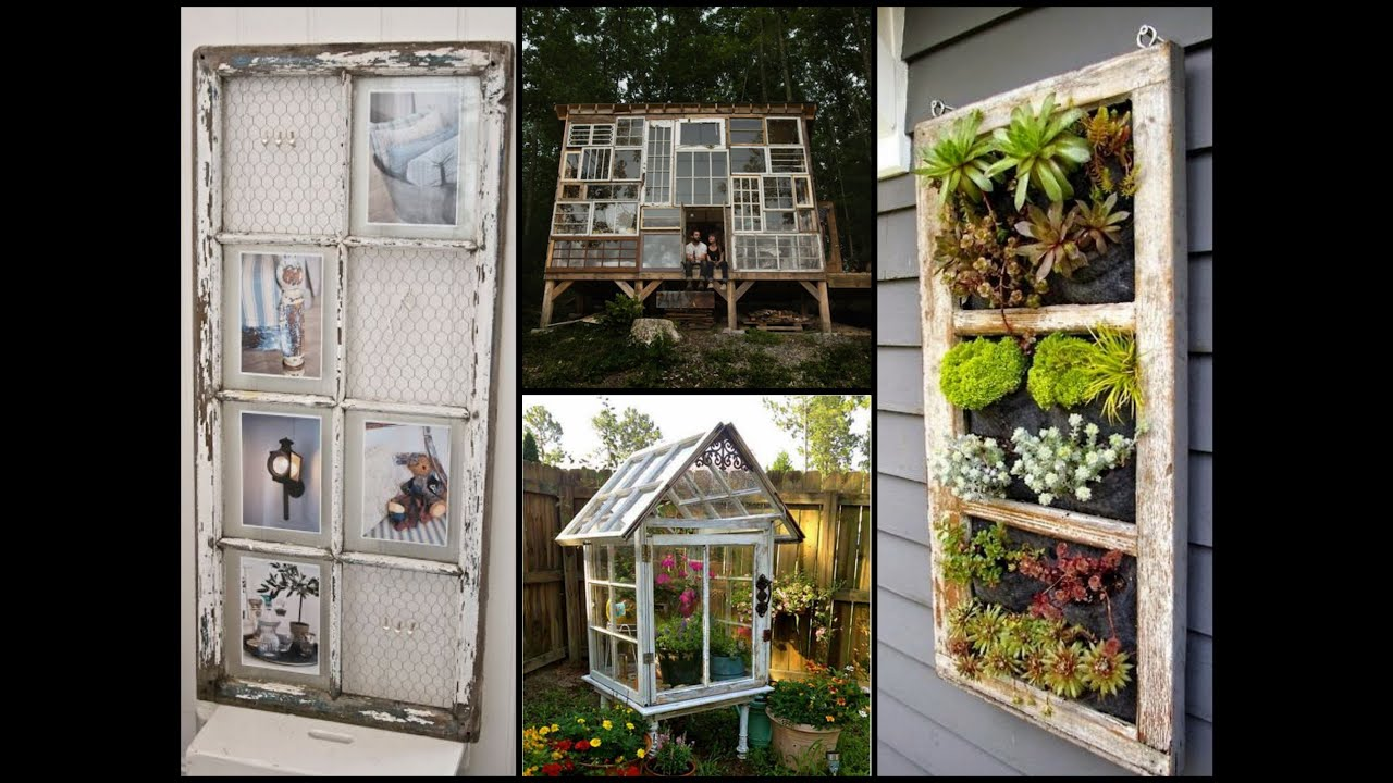 Repurposed Old Windows - Best Recycling Ideas - YouTube