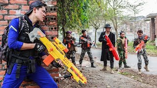 LTT Nerf War : Special Police SEAL X Warriors Nerf Guns Fight Criminal Group Dr Lee Mortal Battle