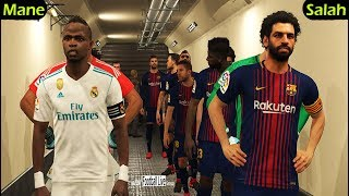 Mohamed Salah player to BARCELONA vs Sadio Mane player to REAL MADRID | El Clasico | PES 2018