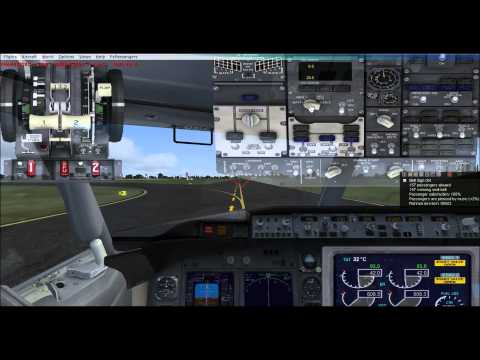 FSX Boeing 737 800 Takeoff at Mactan International Airport Runway 04