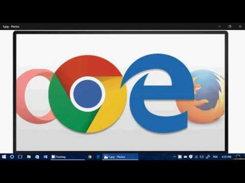 Web Browsers Battery Test in Windows 10 Edge Opera Firefox and Chrome 15 minutes