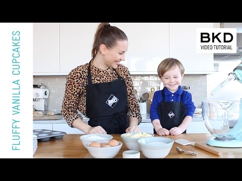 How To Make Yummy Fluffy Vanilla Cupcakes - Kids Baking | BKD