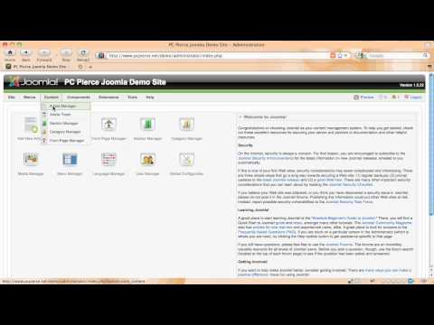 Joomla Login And Article Manager