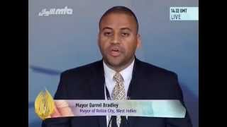 Darrel Bradley, Mayor of Belize City, West Indies at Jalsa Salana UK 2014