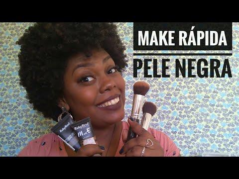 MAKE RÁPIDA - MAIS FALA DO QUE MAQUIA - PELE NEGRA - Blog beleza Cacheada