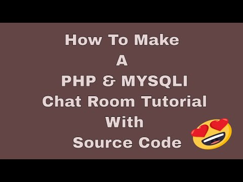 Chat Room Made with PHP & SQL NEW ONE