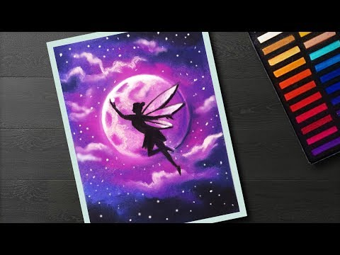 How To Draw Fairy Moonlight Landscape Drawing With Soft Pastel For Beginners Step By Step