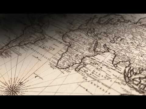 Vintage World Map 3D Rotation  - Stock Footage