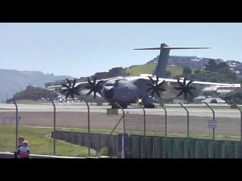 Wellington Airport - Airbus A400M Atlas - Royal Air Force RAF ZM401 - Landing RWY16