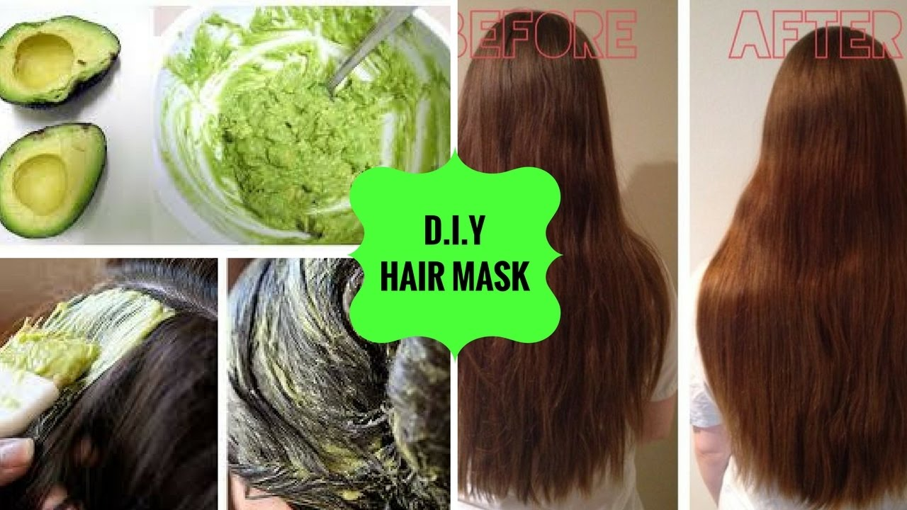Risultato immagini per avocado hair mask before and after