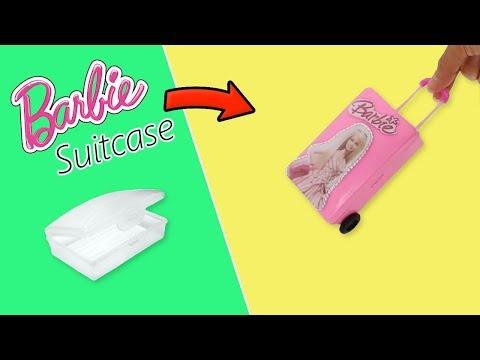 DIY Miniature Doll Suitcase   Cómo hacer una Maleta con ruedas para muñeca
