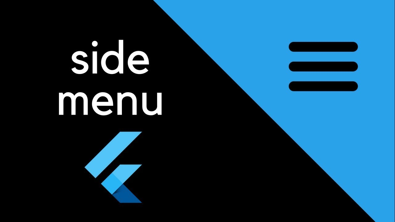 Flutter – Side menu – T-Pub :)