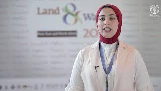 آية سالم، كلية الزراعة، جامعة القاهرة – مصر، تتحدث عن استخدام الطاقة الشمسية فى تحلية  مياه البحر
