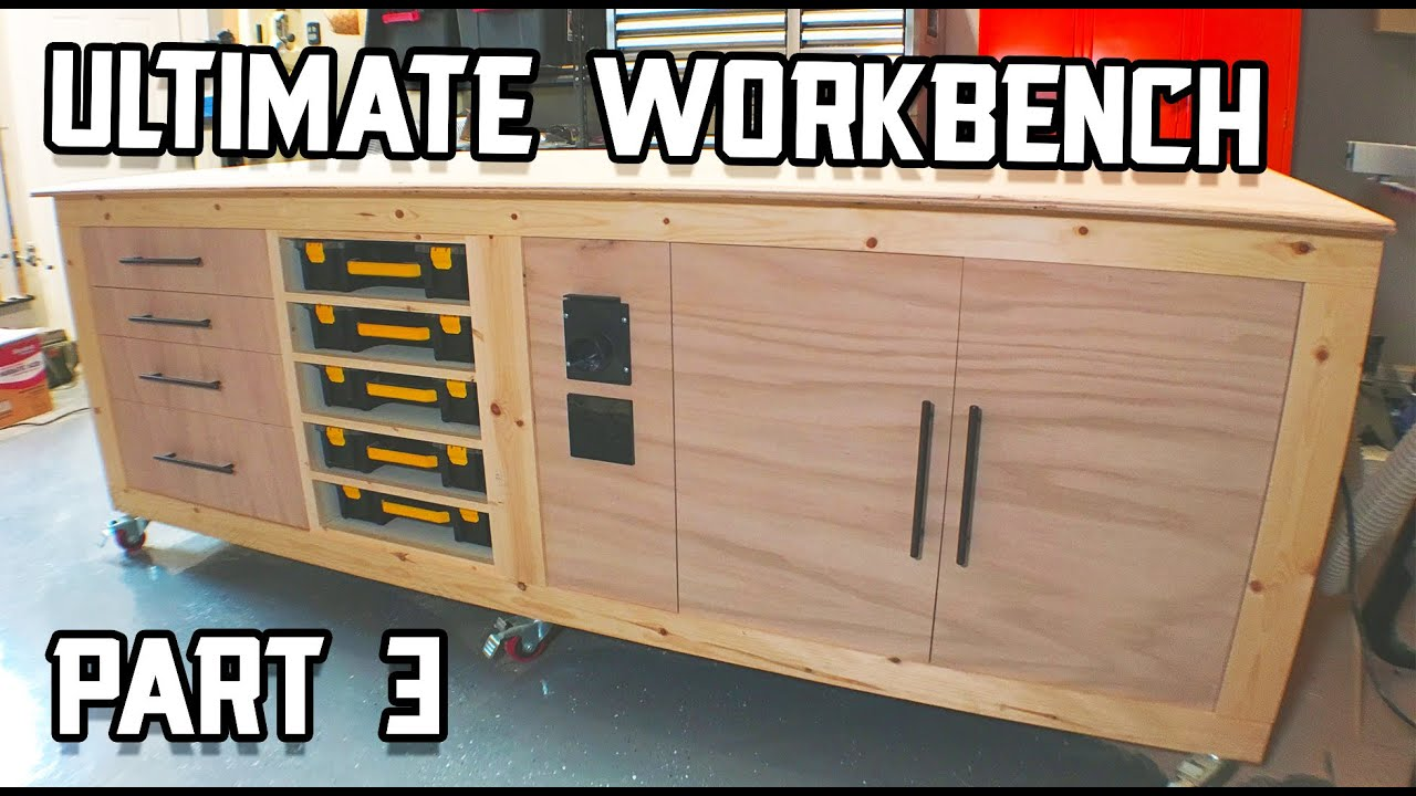 Ultimate Workbench Build Drawers Part Organizers Part 3 Youtube