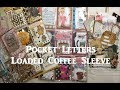 Loaded Coffee Sleeve and Outgoing Pocket Letters