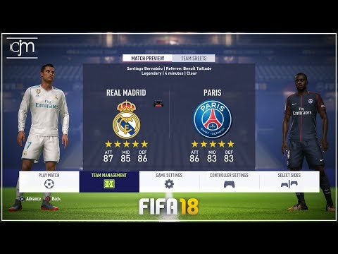 FIFA 18 Demo Gameplay: Real Madrid vs PSG (Bahasa Indonesia)