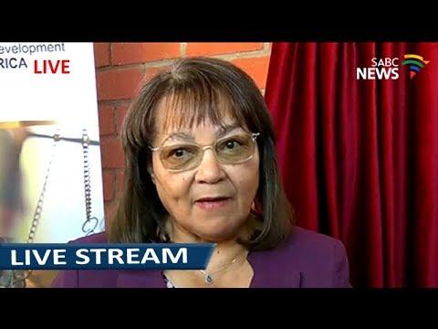 Patricia De Lille briefs the media following her expulsion from the DA