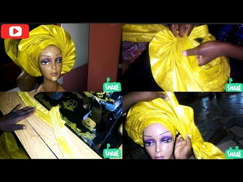 Download How to make a full fan Auto Gele with sego gele. step by step tutorial (2021 Auto Gele)