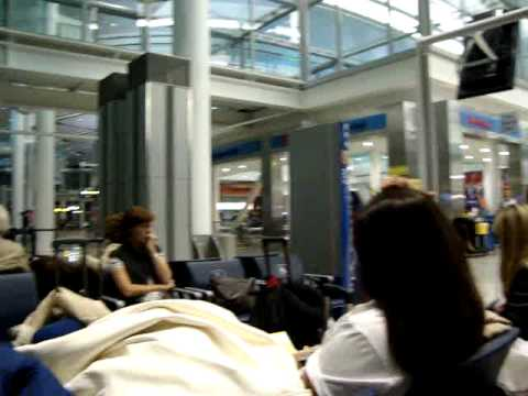 Departure lounge in Pearson Intl Airport, Toronto, Canada