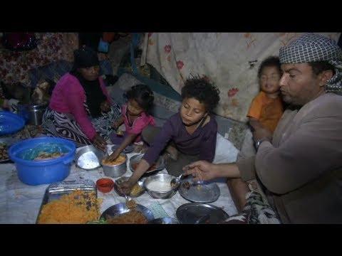 نقص الغذاء يزيد بؤس النازحين خلال شهر رمضان في اليمن