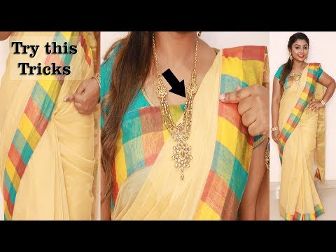 Try this weird trick to get perfect pleats |how to wear cotton saree easily and quickly in 5 minutes