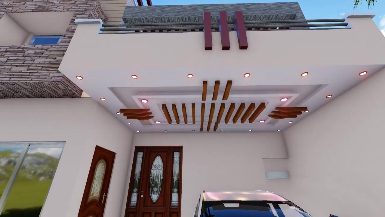 Car Porch Ceiling Design Youtube