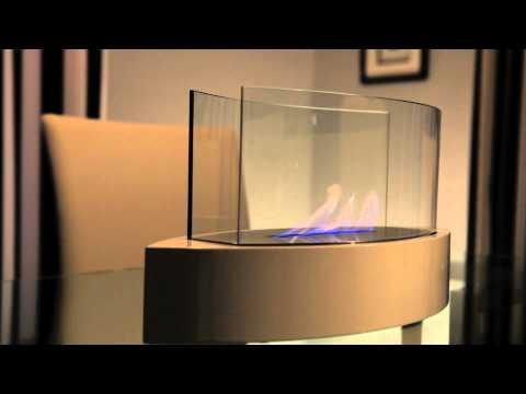 Anywhere Fireplace Lexington model, high gloss white paint. Bio Ethanol Fireplace