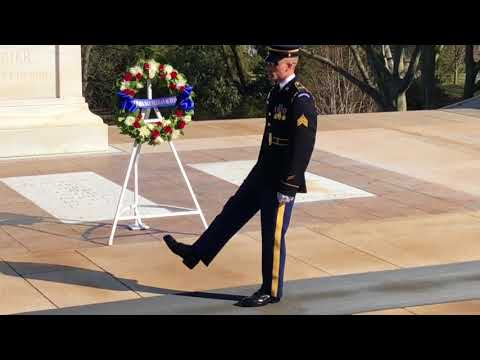 Tomb of the Unknown Soldier- Changing the guard ceremony Mar 2018
