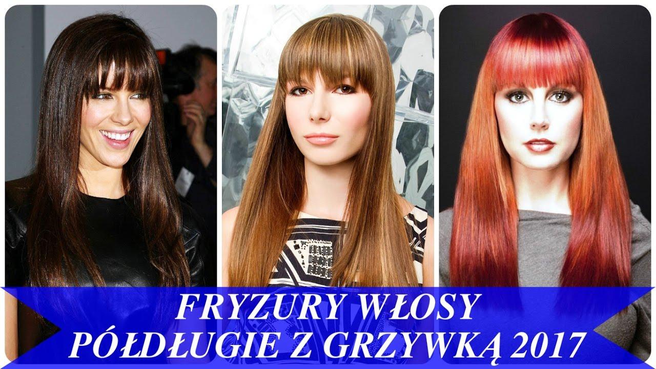Fryzury Włosy Półdługie Z Grzywką 2017