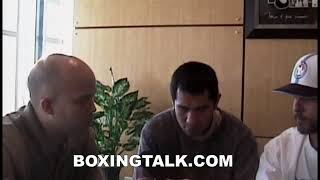 Rocafella Ish: Marco Antonio Barrera being interviewed at Da Roc Boxingtalk Classic