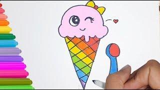 ice cream draw easy drawing