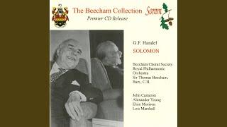 Solomon Hwv 67 Arr T Beecham Part I From The Censer Curling Rise Chorus