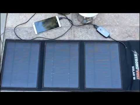Best portable solar panel emergency power | We test the StrongVolt Solar 18