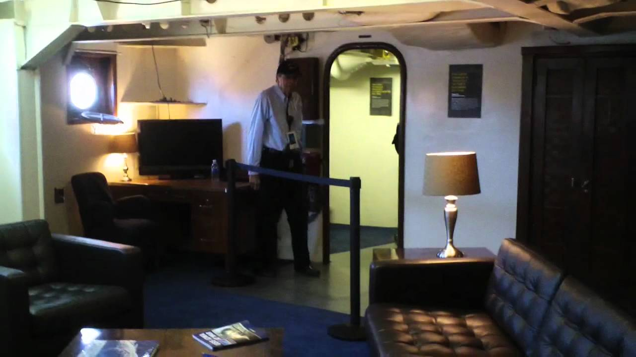 Uss Iowa Captain S Cabin Pres Roosevelt S Cabin Youtube