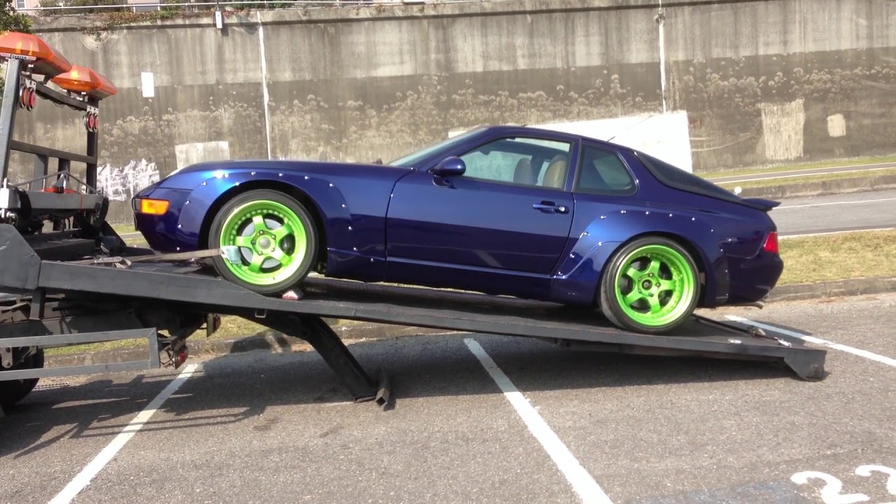 Loading Wide Body Lsx Porsche 968 With True Flat Bed Tow Truck Youtube