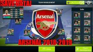 Save Data Arsenal 2018 2019 Update Transfers 2018 2019 Dream