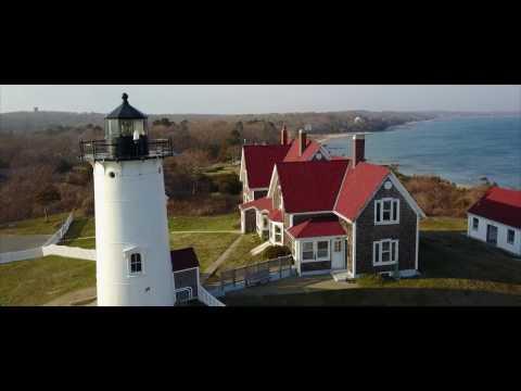An Aerial Tour of Nobska Point Lighthouse Woods Hole, MA