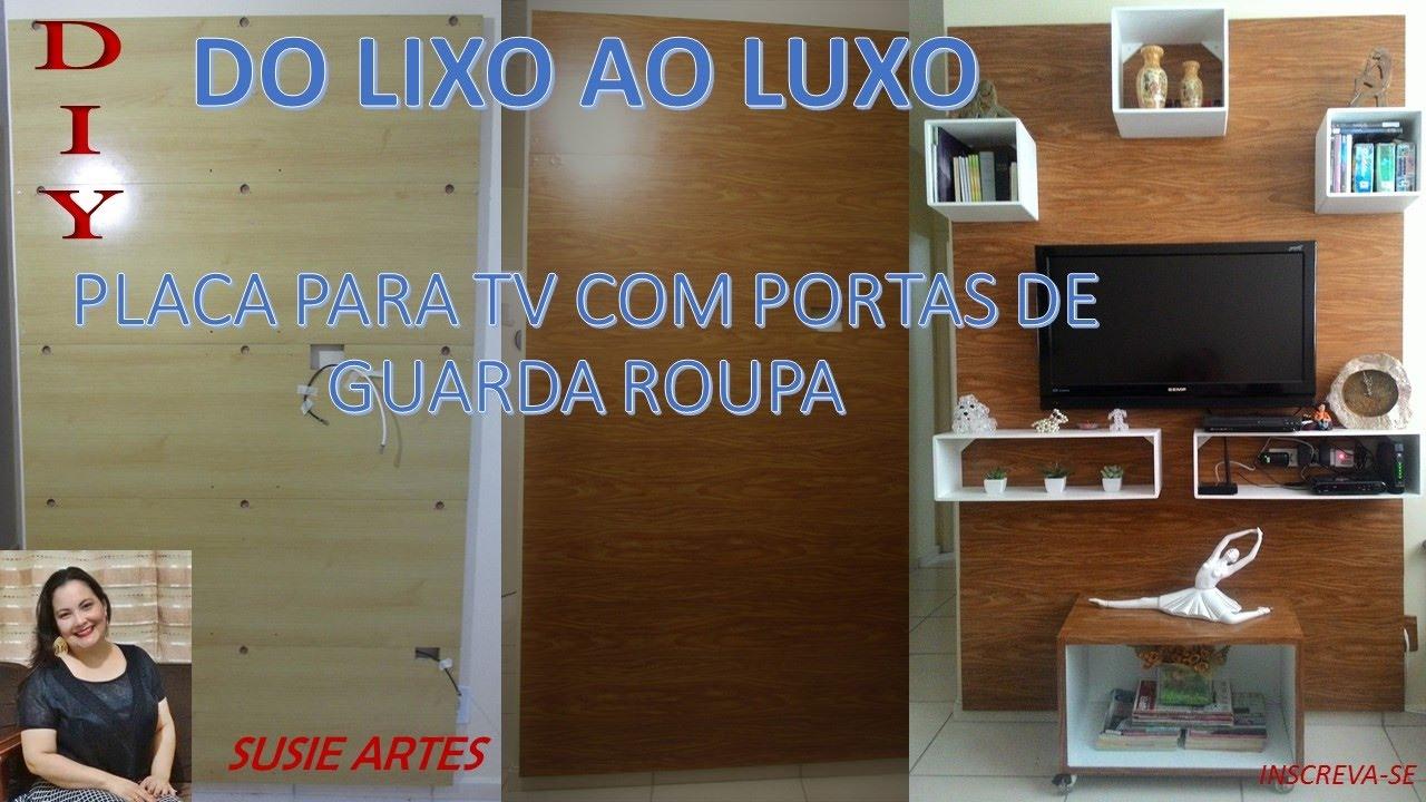 DO LIXO AO LUXO PLACA PARA TV FEITA COM PORTAS DE GUARDA