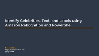 Video Identify Celebrities, Text, and Labels using Amazon Rekognition and PowerShell download MP3, 3GP, MP4, WEBM, AVI, FLV Agustus 2018