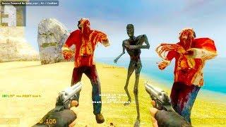 Counter Strike Source - Zombie Horde Mod Online Gameplay on de_island_v2 map