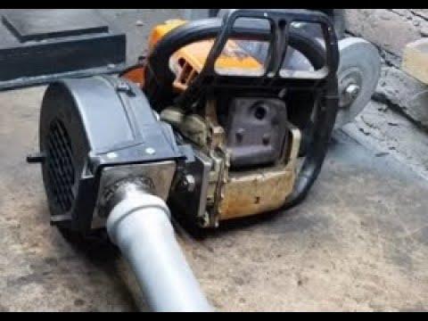 Chain saw - Air blower DIY